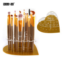 Hot 20 Hole Love Makeup Brush Holder Drying Rack Organizer Cosmetic Acrylic Shelf Tool Kit Drop Shipping Wholesale