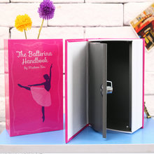 Book safe box Secret Hidden Security Safe Lock Cash Money Jewellery Locker Box M Size Piggy bank Security Code or Key for Choice(China)