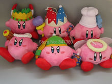 "Super Mario Kirby Plush Dolls Stuffed Soft Toys Kids Birthday Gift 6 pcs/Set 7"" 18cm"
