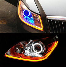 Angel Eyes light 60cm DRL Headlight Flexible Decorative Light With Turn Signal Hot LED Tube Strip #iCarmo