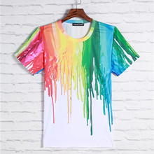 2049 Good Quality Men&Women T-shirt Top 3D Print Casual Graphic Vest Blusa Hip Hop Clothing Tees American Paint Couple Cropped