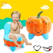 New Cartoon Potty Baby Plastic Toilet Seat Portable Folding Chair Cute pumpkin Drawer Training infant Children's Toilet
