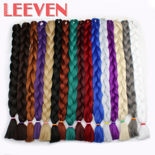 Leeven 84'' 165G Jumbo Braids Hair Synthetic Braiding Hair Extension Crochet Hair DIY hairstyle High Temperature Fiber 1piece