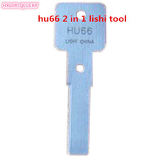HXLIWLQLUCKY repair tool for car lock Hu66 2 In 1 Lishi Tool Free Shipping(China)