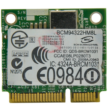 WTXUP for Broadcom BCM94322HM8L BCM4322 AR9280 2.4G & 5.0 GHz Mini PCI-E 300Mbps Wireless WiFi Adapter for Win 7/8/8.1/Linux/Mac(China)
