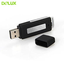 Delux Portable 8GB Mini Dictaphone USB Flash Memory Stick Drive Audio Voice Recorder Recorders WAV Audio Recording Pen(China)