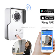 Wireless Wifi Video doorphone Intercom Waterproof Camera IP p2p Access control Set Recording Unlock via Smart Phone