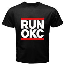 Men'S Gildan Brand Runer Okc Oklahoma City Loud City Basketballer Design T Shirt Male Cool Tops Hipster Printed Summer Tees