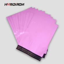 HARD IRON Pink Color Square Envelope Mail packaging Custom Size Pouches Courier Mailer Express Bags