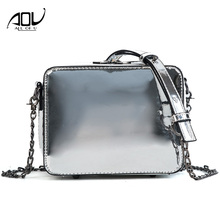 Buy 2018 AOU Summer Women Bag Fashion Messenger Shoulder Bags Chain High PU Leather Crossbody Small bags black gold silver for $14.86 in AliExpress store