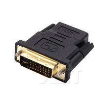 1pcs new 24 5 pin DVI Male to HDMI Female M-F Adapter Converter for HDTV without audio output