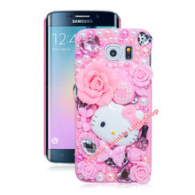 Cute Hello Kitty Case For Samsung Galaxy S8 S8plus S7edge S6 S4 S5 S6edge S7 Note4 Note5 Note2 Note3 Note7 Phone Cases Protector(China)
