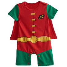 Baby Boys Robin Rompers Infant Costume Jumpsuit Short Sleeve Size 0-24M(China)