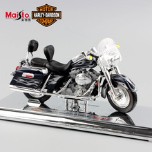 1/18 scale kids mini Harley Davidson 2002 FLHRSEI CVO Custom Moto diecast motorcycle Cruiser Racing cars gift toys collection