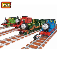 LOZ Set Sale Mini Emily James Percy Thomas Train Diamond Bricks Thomas and Friends Model Building Blocks Toys for Children 1807(China)
