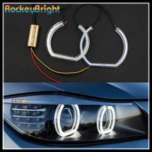 Rockeybright SMD Car Headlight crystal Angel Eyes white LED Angel Eyes for BMW F30 F35 Warning Lamp for BMW X3 halo rings light(China)
