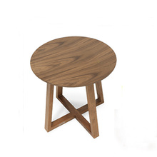 19 inch Round Wooden Coffee Table
