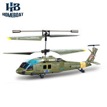 New Arrival Syma S102G Military 3CH Gyro LED Indoor RC Attack Helicopter Shatterproof Radio Remote Control Kids Toys Green(China)