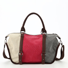 Fashion Patchwork Canvas Women Handbags Large Capacity Casual Tote Bag over Shoulder Big Canvas Bags sac a main bolsas canta