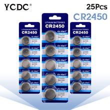 YCDC 8.28 Big Promotion 25pcs/lots RETAIL LONG LASTING CR2450 DL2450 CR 2450 Watch Button CoCell Lithium 3V Battery China Brand