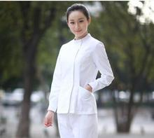 Medical Uniforms 2017 New Trend Spring/Summer Long Sleeved Nurse Uniform Beauty Salon Uniform medical scrubs women lxx03(China)