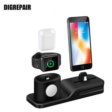 Charging Dock Charger 3 1 Iphone X XR XS MAX 8 7 6 Charging Dock Silicone Docking Station Apple Watch