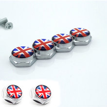 mini National flag license plate frame screws anti - theft screws 4Pcs/Set Universal Car Styling This is the fancy license plate