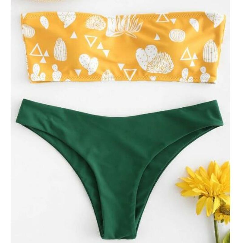 Push up swimsuit Print micro bikini 34