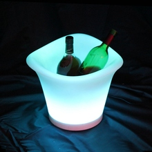 RGB Plastic Ice Container with Remote Control 16Color Luminous Plastic Beer Barrel LED Ice Bucket 4pcs/Lot