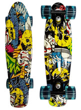 Skateboard Complete Retro Girl Boy Cruiser Mini Longboard Skate Fish Long Board  22''