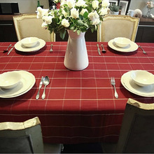 100% Cotton Tablecloths Rectangular Hot Sale Classic Plaid Table Clothes for Dining Table