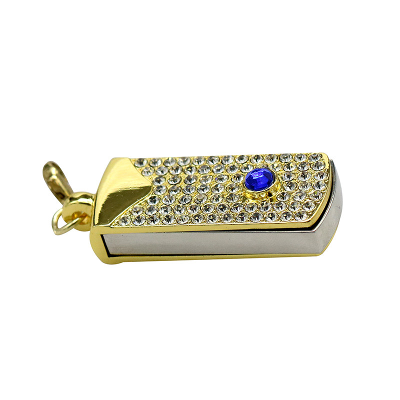Metal Crystal Full Diamond Rotary Key Chain USB 2.0 Flash Drive 4GB 8GB 16GB 32GB 64GB 128GB Flash Disk Memory Stick Pendrive 34