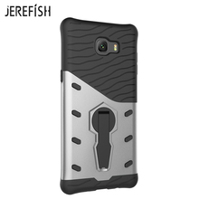 "JEREFISH For Samsung Galaxy C9 Pro 6.0"" Phone Case Shockproof 360 Swivel Stand Netted Heat Dissipation Armor Phone Case Cover(China)"
