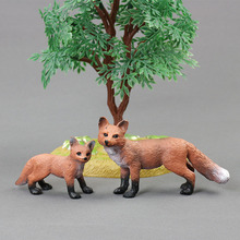 Hot toys for children:simulation of wild animal toy models,red fox,PVC plastic,washed without fading,boys for toys,girl for toys(China)