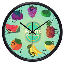 NEW pastoral fresh fruit wall clock,colorful lemon orange quartz wall watch,creative fruit home decorations(China)