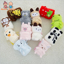 The New Cartoon Animal Blanket Air Conditioning Coral Nap Blanket Children Blanket TRQ1253(China)