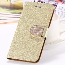 KISSCASE For iPhone 7 Plus Case Luxury Leather Wallet Pouch For iPhone 5 5S SE 6 6S Plus 7 Plus Glitter Crystal Diamond Cases