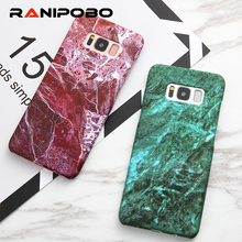 Fashion Geometric Pattern Marble Case For Samsung S7 S8 Edge For Samsung Galaxy S8 Plus Phone Cases Hard Back Cover Capa(China)