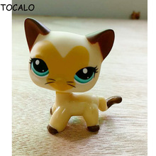 8cm Lovely Pet Collection LPS Figure Toy LITTLEST PET Animals For Girl Short Hair Cat DWA262