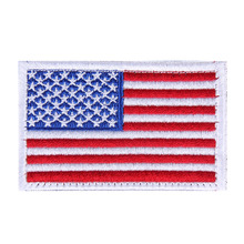 6 Colors American Flag Embroidered Patches Patriotic Army Military Patch for Clothing Fabric Badge Accessories