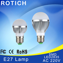 E14 LED E27 lamp IC 5W 10W 15W 110V 220V 230V 265V LED Lights Led Bulb bulb light lighting high brighness Silver metal(China)