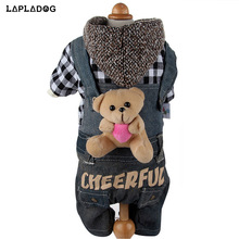 Winter Warm Pet Dog Clothes for Small Dogs Jackets Black Plaid Pet Apparel Modern Stylish Cotton Puppy Clothing Costume XS-XL(China)