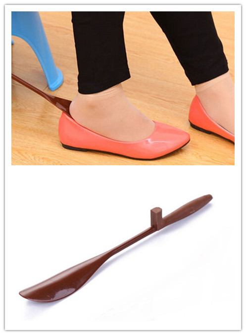 1PCS Plastic Handle Hanging Shoe Horn Brace Durable Handle Shoehorn Accessories Support Aid Stick Remover Tool