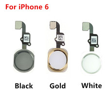 "For iPhone 6 Home Button with Flex Cable for iPhone 6 4.7""/ 6plus 5.5"" Complete Assembly Spare Part Replacement Black/White/Gold(China)"
