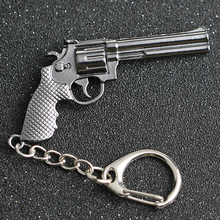 CS GO CSGO CF Keychain Revolver Magnum Ruger Bisley Pistol Gun Weapon Counter Strike Cross Fire Keyring Key Chain Ring Wholesale
