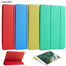 Case for iPad Pro 10.5, Carry360 Ultra Slim Flip Magnetic Wake Sleep PU Leather Stand Smart Cover Case for iPad Pro 10.5 inch(China)