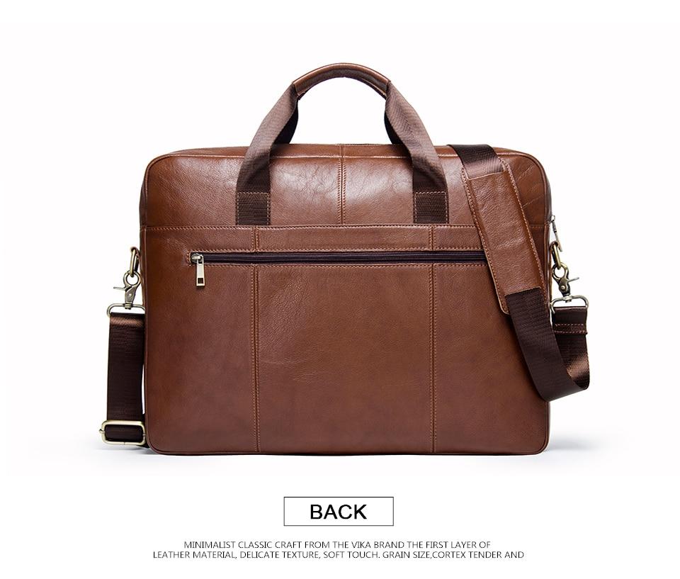 """حقيبة لابتوب من الجلد الطبيعي لرجال الاعمال 15.6"""" 7"""