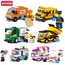 KAYGOO Building Blocks City House Snack Car TV Express Police Truck school bus Brick girls Toy Compatible Legoe