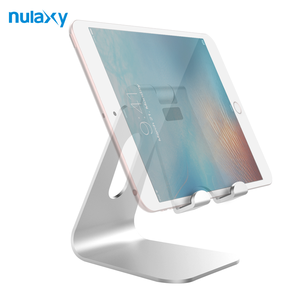 Nulaxy Aluminium Alloy Desktop Holder For Tablet Adjustable Hinge Holder For Mobile Phone Stands Plus For iPad Dock Phone Holder(China)