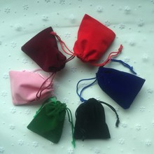 10pcs 7*9cm High-grade Flannel Cloth Jewelry Gift Candy Bag Pouch Ring Necklace Earring Small Goods Drawstring Storage Bag BZ172